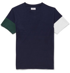 Hentsch Man Colour-Block Cotton-Jersey T-Shirt