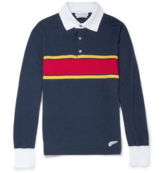 Michael Bastian Long-Sleeved Striped Cotton Polo Shirt