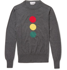 Michael Bastian Jaywalk Intarsia Cotton Sweater