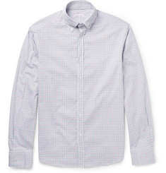 Michael Bastian Button-Down Collar Checked Cotton Shirt