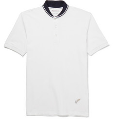 Michael Bastian Shawl-Collar Cotton-Piqué Polo Shirt