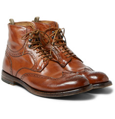 Officine Creative Anatomia Leather Brogue Boots