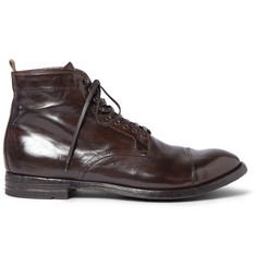 Officine Creative Anatomia Glossed-Leather Boots
