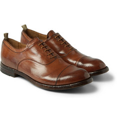 Officine Creative Anatomia Glossed-Leather Oxford Shoes