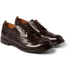 Officine Creative - Anatomia Glossed-Leather Brogues