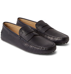Tod's - Gommino Grained-Leather Loafers