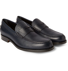 Tod's Pebble-Grain Leather Penny Loafers