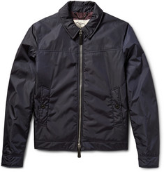 Burberry London Newbury Leather-Trimmed Shell Jacket