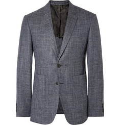 Burberry London Blue Stirling Slim-Fit Wool, Silk and Linen-Blend Blazer