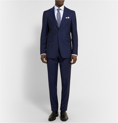 Burberry London Navy Slim-Fit Wool and Mohair-Blend Suit