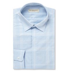 Burberry London Blue Striped Cotton Shirt