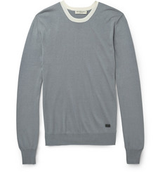 Burberry London Fine-Knit Silk and Cotton-Blend Sweater