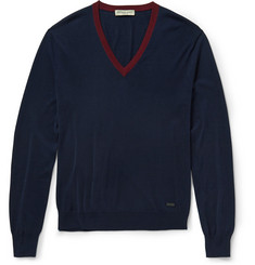 Burberry London Silk and Cotton-Blend Sweater