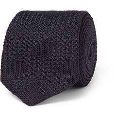 Burberry London Check Knitted Silk Tie