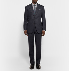 Gieves & Hawkes Midnight-Blue Slim-Fit Wool-Hopsack Suit