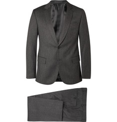 Gieves & Hawkes Grey Herringbone Wool and Cashmere-Blend Suit