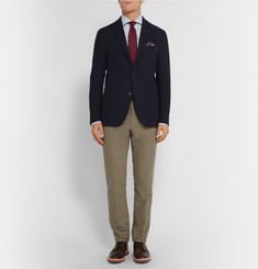 Gieves & Hawkes Slim-Fit Cotton-Moleskin Chinos