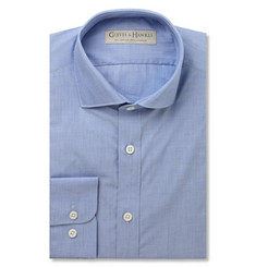 Gieves & Hawkes Blue End-On-End Cotton Shirt
