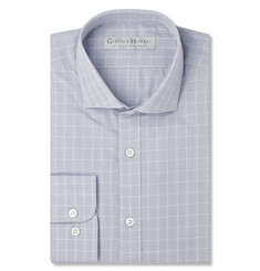 Gieves & Hawkes Grey Checked Cotton Shirt
