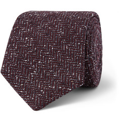 Gieves & Hawkes - Herringbone Silk and Wool-Blend Tie