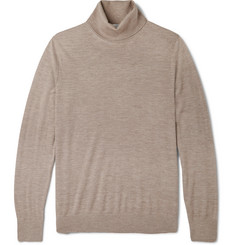 Gieves & Hawkes Cashmere, Wool and Silk-Blend Rollneck