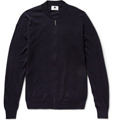 NN.07 Jake Zip-Through Wool Cardigan