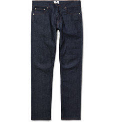 NN.07 Three Slim-Fit Raw Denim Jeans