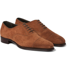 Kingsman George Cleverley Suede Oxford Shoes