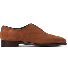 Kingsman + George Cleverley Suede Oxford Shoes