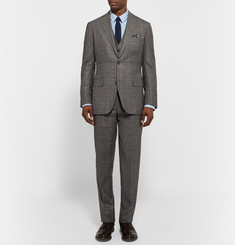 Freemans Sporting Club Grey Checked Wool Three-Piece Suit