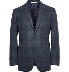 Freemans Sporting Club Blue Checked Wool Blazer