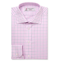 Turnbull & Asser Pink Slim-Fit Checked Cotton Shirt