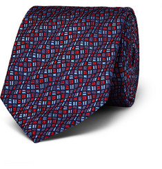 Turnbull & Asser Patterned Woven Silk Tie