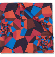 Turnbull & Asser - Geometric-Print Silk-Twill Pocket Square