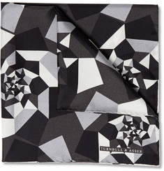 Turnbull & Asser Geometric-Print Silk-Twill Pocket Square