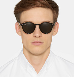 Ray-Ban 2180 Round-Frame Acetate Sunglasses