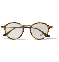 Ray-Ban Mottled-Acetate Round-Frame Sunglasses