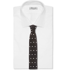 Lanvin Polka-Dot Knitted Silk Tie