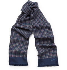 Lanvin Double-Sided Printed Silk and Wool Scarf