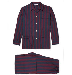 Derek Rose Arctic Striped Brushed-Cotton Pyjama Set