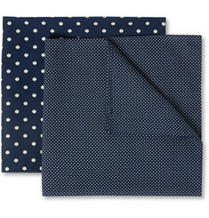 Derek Rose Set-of-Two Polka-Dot Cotton Handkerchiefs