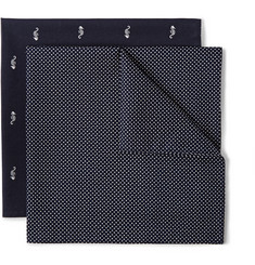 Derek Rose Two-Pack Printed Cotton Pocket Squares