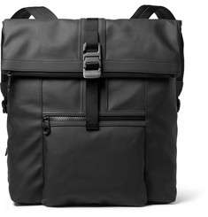 Mulberry Fleet Leather-Trimmed Coated Canvas Backpack