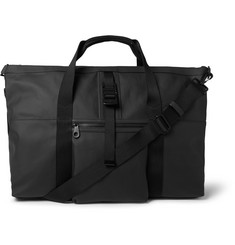 Mulberry Fleet Leather-Trimmed Coated Canvas Holdall