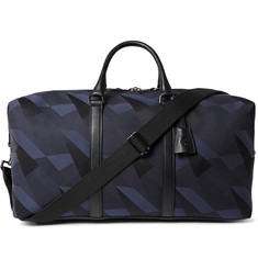 Mulberry Medium Clipper Leather-Trimmed Canvas Holdall