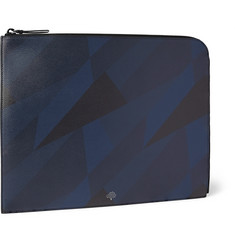 Mulberry Geometric-Print Grained-Leather Document Case