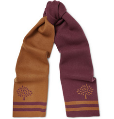 Mulberry Wool and Cashmere-Blend Jacquard Scarf