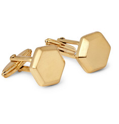Lanvin Brushed Gold-Plated Cufflinks
