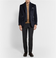 Richard James Midnight-Blue Seishin Slim-Fit Baby Llama and Wool-Blend Blazer