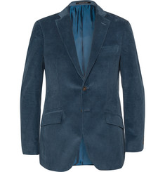 Richard James Teal Seishin Slim-Fit Cotton Blazer